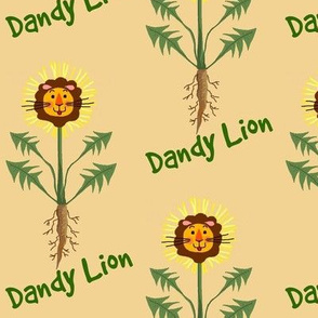 The dandy Lion of the Lawn(w/words)