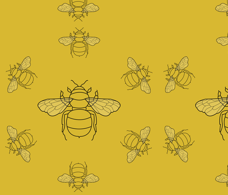 bees2 fabric by lamarci on Spoonflower - custom fabric