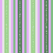 Fizz n' Bubble Vertical Stripes, Green, Lavender