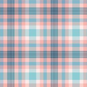 FNB4 - Fizz n' Bubble Pink and Blue Tartan Plaid