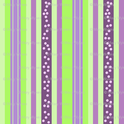 FNB2 - Mini Fizz-n-Bubble Stripes in Lime Green and Purple  - Lengthwise