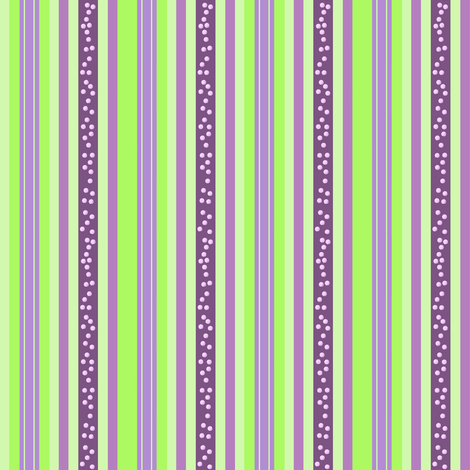 FNB2 - Mini Fizz-n-Bubble Stripes in Lime Green and Purple  - Lengthwise fabric by maryyx on Spoonflower - custom fabric