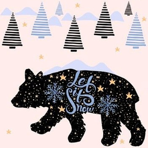 Let it Snow Bear - Pink