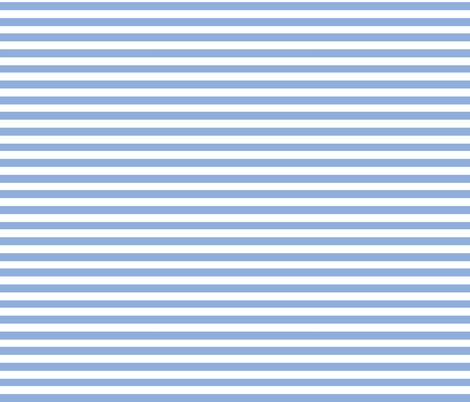 Blue Stripes - Let it Snow Bear  fabric by shopcabin on Spoonflower - custom fabric