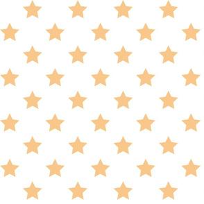 Yellow Stars - White
