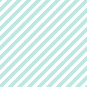 mint diagonal stripes diagonal stripe stripes fabric cute baby girl nursery baby girls fabric