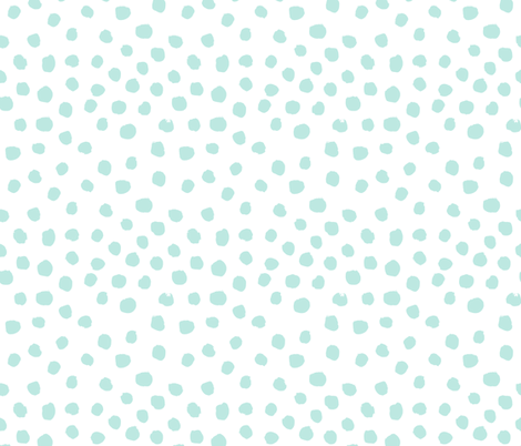 mint dots cute painted dot fabric coordinating fabric nursery baby fabric girls nursery baby fabric by charlottewinter on Spoonflower - custom fabric