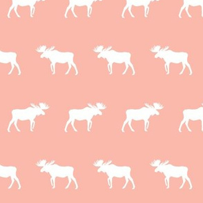 blush moose fabric nursery baby girls moose design cute moose fabric baby pastels