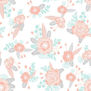 florals blush mint grey cute baby quilts cute baby quilt design