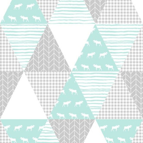 triangles mint and grey triangle quilt cute baby quilt baby design best cheater quilt for nursery