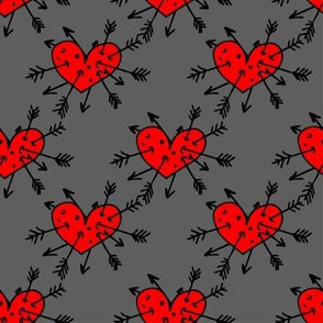 I am allways in love! Pattern with hearts and arrows
