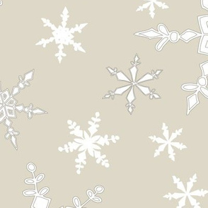 Snowflakes - Large - White, Cream