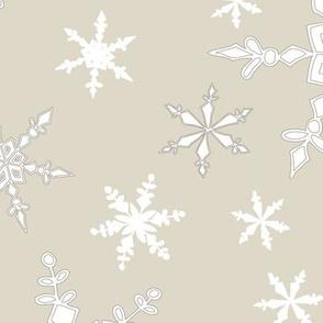 Snowflakes - Large - White, Cream