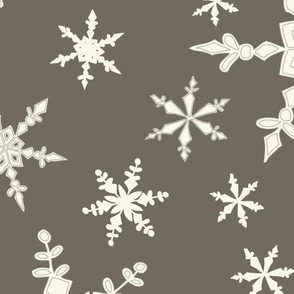 Snowflakes - Large - Ivory,  Clay