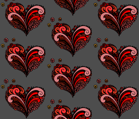 Happy in love fabric by magic_pencil on Spoonflower - custom fabric
