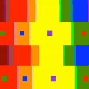 Color Strip Scarf 18x21