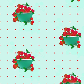 Cherries_with_Basket_on_Ice_w_Red_Dots
