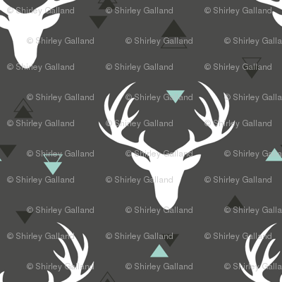 Deer head grey