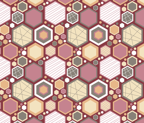 Hip Hexagons (Regal) fabric by brendazapotosky on Spoonflower - custom fabric