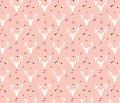 deer-rose fabric by shirley_g_ on Spoonflower - custom fabric