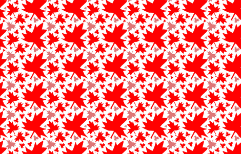 Maple Leaf (Tiled Red on White) fabric by esheepdesigns on Spoonflower - custom fabric