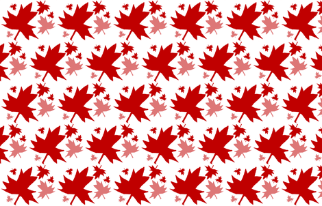 Maple Leaf on White fabric by esheepdesigns on Spoonflower - custom fabric