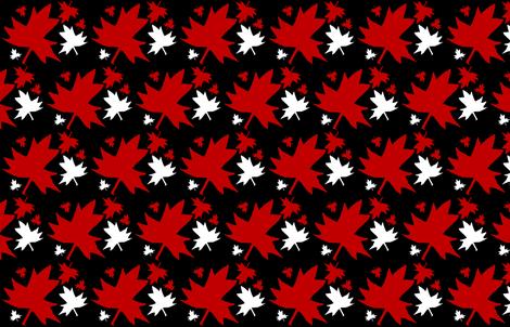 Maple Leaf on Black fabric by esheepdesigns on Spoonflower - custom fabric