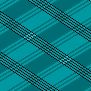 Flowers_Checkered_BW_Lines2_teal-coord3