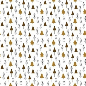 Alpine winter forest (brown)