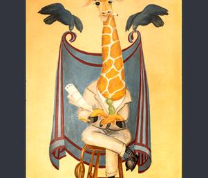 Ruins_Dashiell_Giraffe_border_3 fabric by jenoiserie on Spoonflower - custom fabric