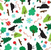 Jolly Blackbirds // by Annie Swift