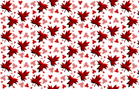 Maple Leaf Multi 3D on White fabric by esheepdesigns on Spoonflower - custom fabric