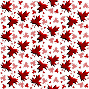 Maple Leaf Multi 3D on White