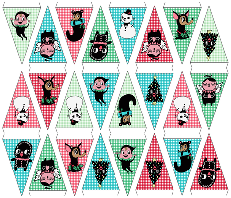 holiday cut and sew bunting  fabric by heidikenney on Spoonflower - custom fabric