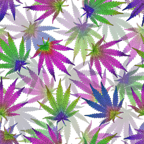 Jewel Tone MJ Leaves fabric by camomoto on Spoonflower - custom fabric