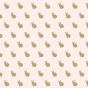 Mini Gold Bunnies on pink