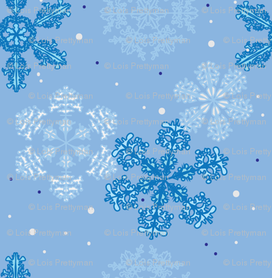 Blue Wonderland, Large Pattern