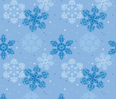 Blue Wonderland, Large Pattern fabric by 88fingerslouie on Spoonflower - custom fabric