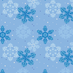Blue Wonderland, Large Pattern
