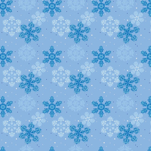Blue Wonderland, Small Pattern