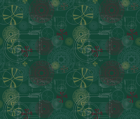 StrangeGreen fabric by costumewrangler on Spoonflower - custom fabric