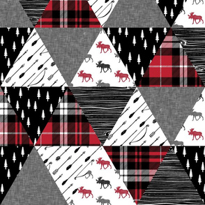 the happy camper triangle wholecloth (moose)