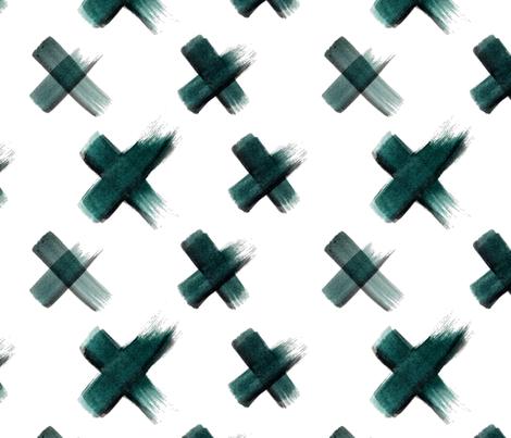 Kiss_Dark Green fabric by maggie_lam_surface_design on Spoonflower - custom fabric