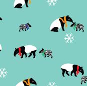 Blue Winter Tapirs // by Annie Swift