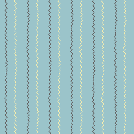 Spoonflower Time Zigzag Pinstripes fabric by anniedeb on Spoonflower - custom fabric