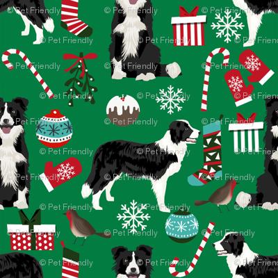 border collie christmas fabric xmas design christmas fabrics cute red and green fabrics