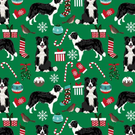 border collie christmas fabric xmas design christmas fabrics cute red and green fabrics fabric by petfriendly on Spoonflower - custom fabric