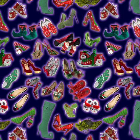 All_I_Want_For_Christmas_is_Shoes fabric by alschapiro on Spoonflower - custom fabric