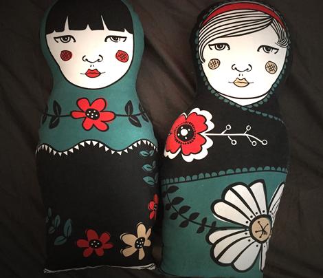 "Cut & Sew // Matryoshka Pillow ""Mila"""
