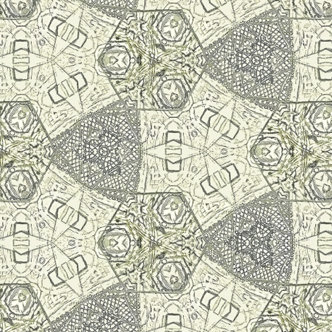 Hex triad lace in warm gray fabric by wren_leyland on Spoonflower - custom fabric